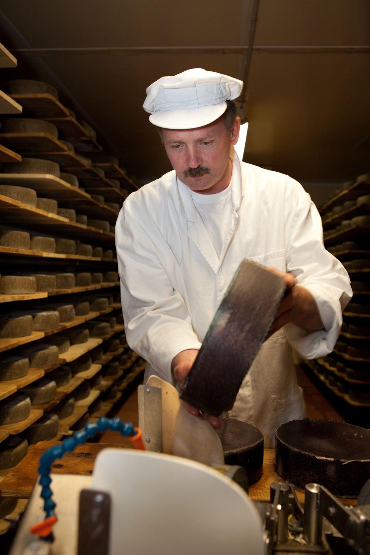 honhardter demeter höfe dorfkäserei geifertshofen käseherstellung Keller Regale qualitätskontrolle leib schmieren pflege Reifen Käserei jörn strojny