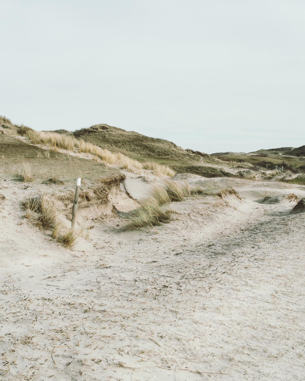 egmond aan zee schild berge hügel landschaft dünen sand himmel niederlande urlaub