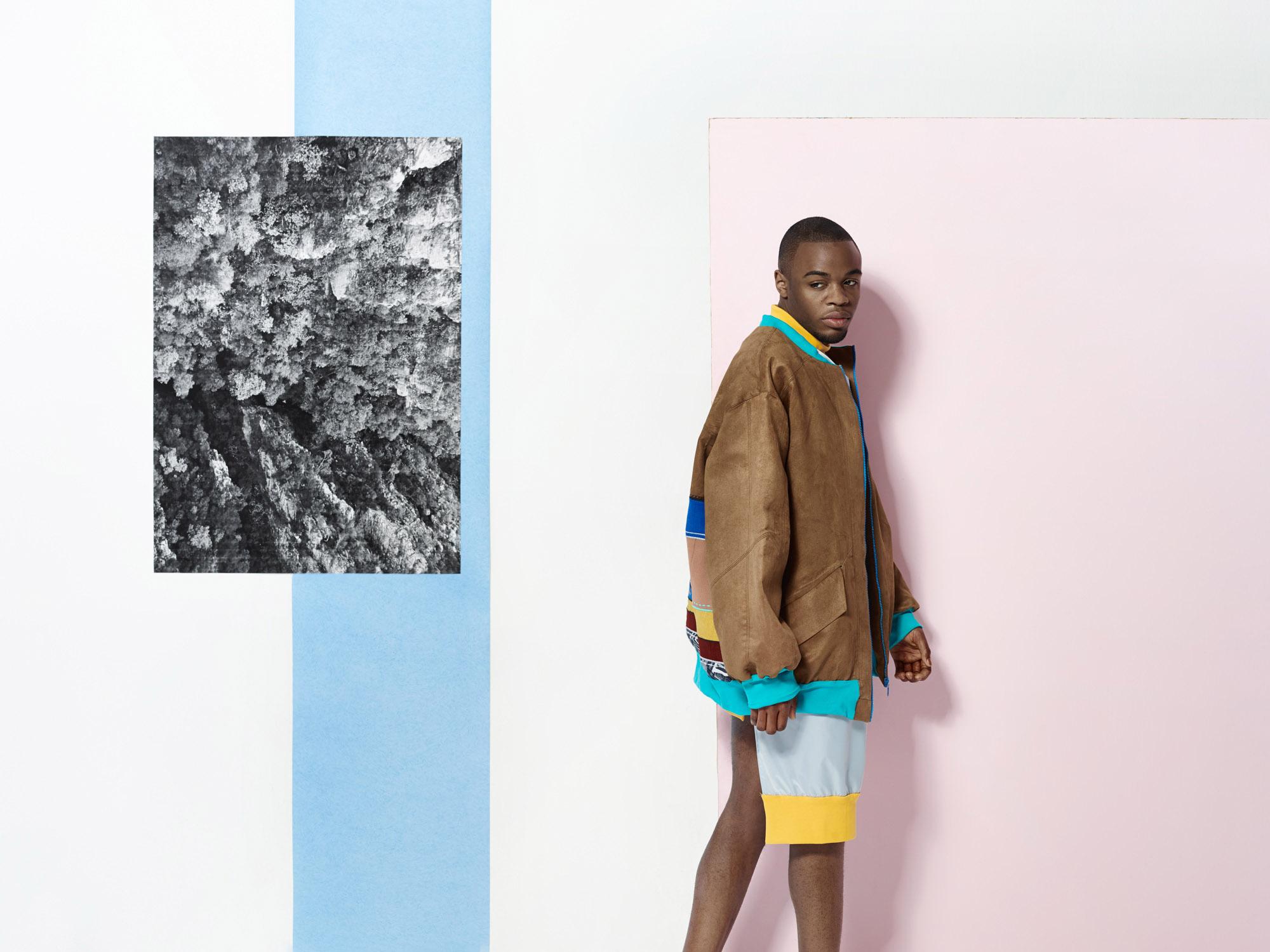 fashion mode wald bild im bild südafrika grafisch bunt setbau