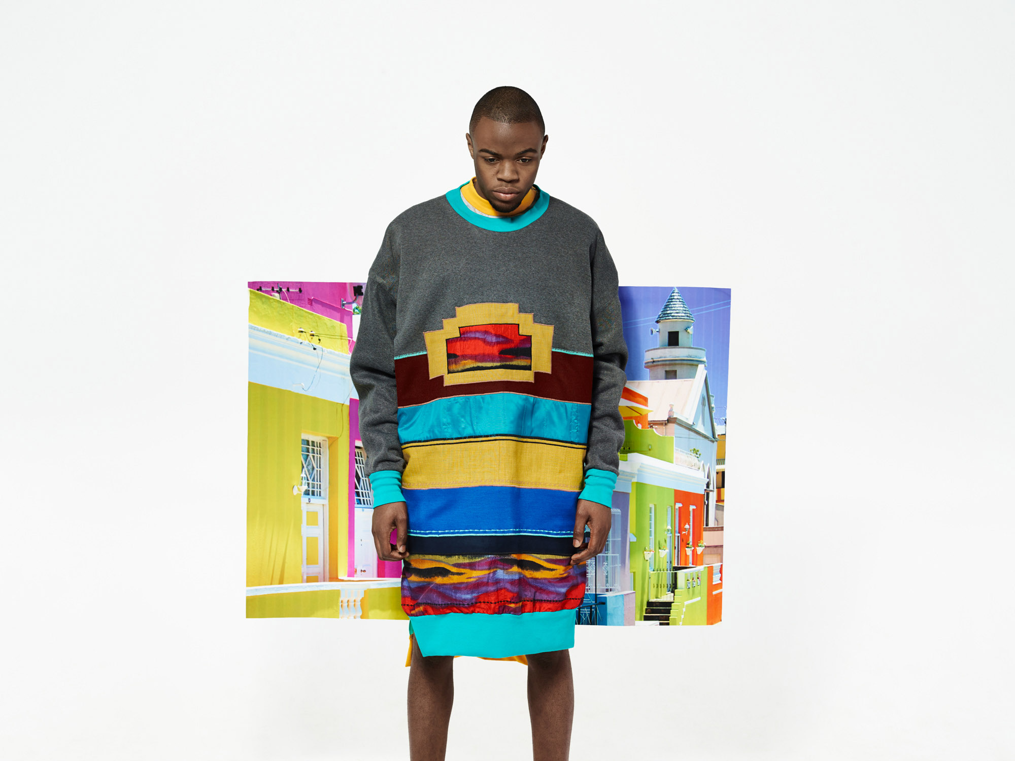 fashion Malay Quarter häusermode bo-kaap südafrika bild im bild bgrafisch bunt setbau