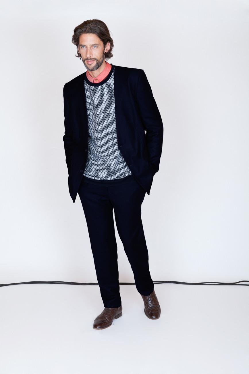 akjumii mann sakko pullover kabel studio modekollektion mode lookbook münchen jörn strojny